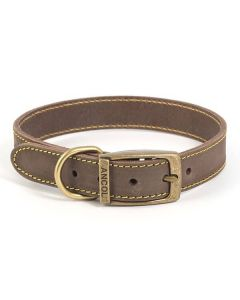 Ancol Heritage Leather Dog Collar - Tan (28 - 36cm)