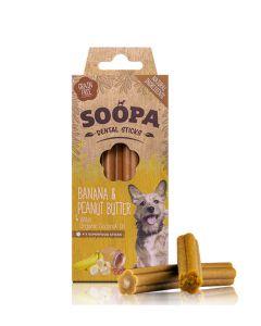 Soopa Banana & Peanut Butter Dental Sticks 100g