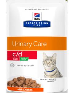 Hill's Prescription Diet c/d Feline - Urinary Stress Reduced Calorie pouches