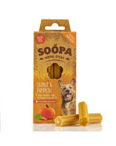 Soopa Carrot & Pumpkin Dental Sticks 100g - dogtor.vet