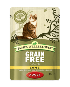 James Wellbeloved Adult Cat Lamb Pouches 48 x 85g