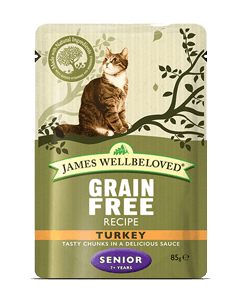 James Wellbeloved Senior Cat Turkey Pouches 48 x 85g