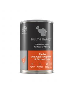 Billy + Margot Adult Dog Chicken Tin 395g
