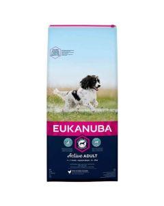 Eukanuba Chien Active Adult Moyenne Race au poulet 15 kg - La Compagnie des Animaux