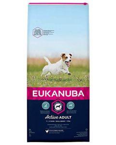 Eukanuba Chien Active Adult Petite Race au poulet 15 kg - La Compagnie des Animaux