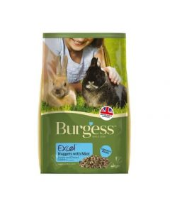 Burgess Excel Junior & Dwarf Rabbit Nuggets with Mint 4kg
