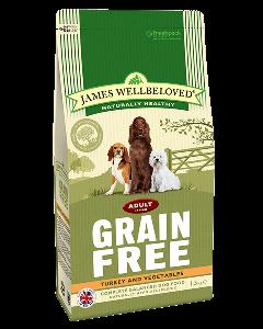 James Wellbeloved Adult Dog Grain Free Turkey & Vegetables 10kg