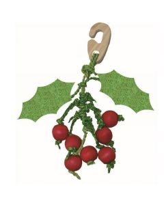 Happy Pet Christmas Hanging Holly Nibbler for Small Animals - Dogtor.vet