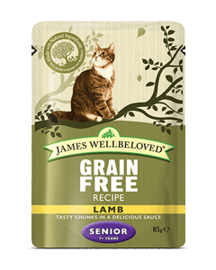 James Wellbeloved Senior Cat Lamb Pouches 48 x 85g