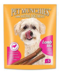 Pet Munchies Lamb Stix Dog Treats 50g