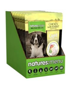 Natures Menu Light Dog Chicken & Rabbit Pouch 8 x 300g