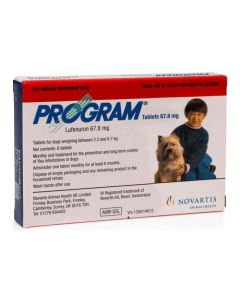 Program Oral Tablets for Small Dogs 2.3 - 6.7kg (pack of 6)