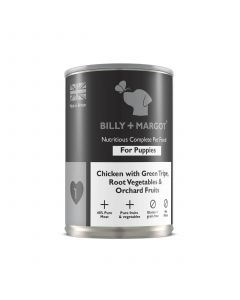 Billy + Margot Puppy Chicken & Tripe Tin 395g