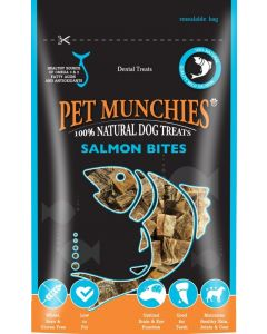 Pet Munchies Salmon Bites Dog Treats 90g