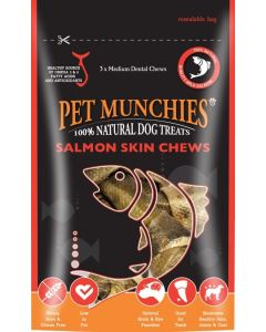 Pet Munchies Salmon Chews Dog Treats 90g - Medium