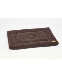 Gor Pets Brown Sherpa Fleece Crate Mat - Medium