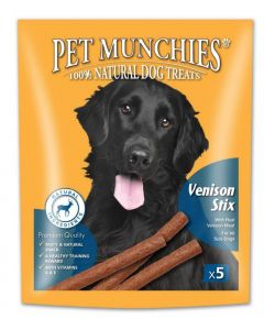 Pet Munchies Venison Stix Dog Treats 50g