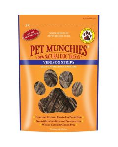 Pet Munchies Venison Strips Dog Treats 75g