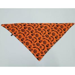 Proper Dog Halloween Pumpkin & Cobweb Print Bandana - Small - Dogtor