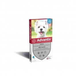 Advantix petit chien (4-10 kg) - 4 pipettes - Dogtor