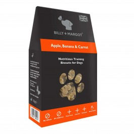 Billy + Margot Apple, Banana & Carrot Training Biscuits 125g - Dogtor