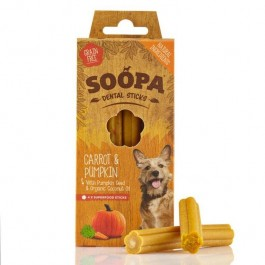 Soopa Carrot & Pumpkin Dental Sticks 100g - Dogtor