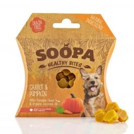 Soopa Carrot & Pumpkin Bites 50g - Dogtor