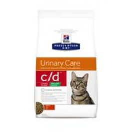 Hill's Prescription Diet Feline C/D (Multicare) Urinary Stress Light au poulet  8 kg - Dogtor