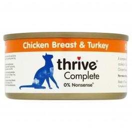 Thrive 100% Chicken & Turkey Complete Cat Wet Food 12 x 75g - Dogtor