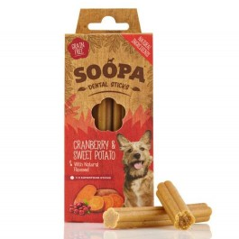 Soopa Cranberry & Sweet Potato Dental Sticks 100g - Dogtor