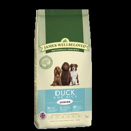 James Wellbeloved Junior Dog Duck & Rice 2kg