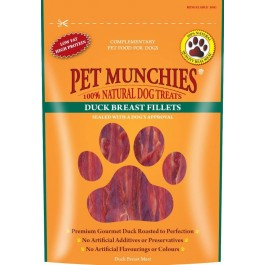 Pet Munchies Duck Breast Fillet Dog Treats 80g - Dogtor