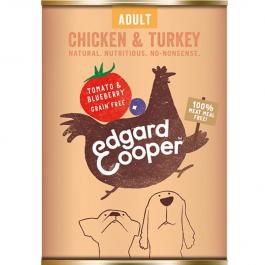 Edgard & Cooper Chicken & Turkey Tin 400g - Dogtor