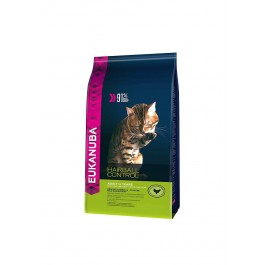 Eukanuba Chat Adult Hairball Control Poulet et Foie 4 kg - Dogtor