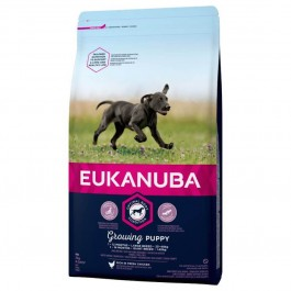 Eukanuba Growing Puppy Grande Race au poulet 3 kg - Dogtor