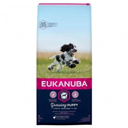 Eukanuba Growing Puppy Moyenne Race au poulet 12 kg - Dogtor