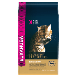 Eukanuba Healthy Digestion Adult 1+ Years Rich in Lamb Dry Cat Food 2kg