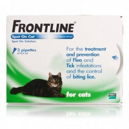 Frontline Spot-on for cats - 3 pipettes - Dogtor
