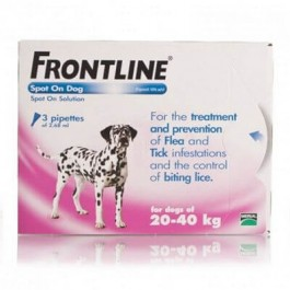 Frontline Spot-on for large dogs - 3 pipettes - Dogtor