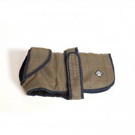 "Danish Design Tweed Dog Coat - Green (12"") - Dogtor"
