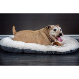 "Gor Pets Nordic Grey Oval Cushion - 24"" - Dogtor"