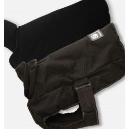 "Danish Design 2-in-1 Harness Dog Coat - Black (12"") - Dogtor"
