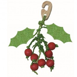 Happy Pet Christmas Hanging Holly Nibbler for Small Animals - Dogtor