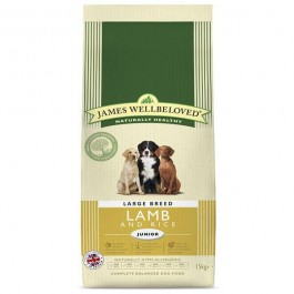 James Wellbeloved Junior Dog Large Breed Lamb & Rice 15kg