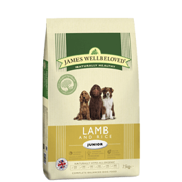 James Wellbeloved Junior Dog Lamb & Rice 7.5kg