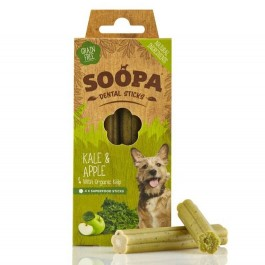 Soopa Kale & Apple Dental Sticks 100g - Dogtor