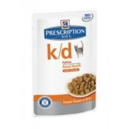 Hill's Prescription Diet k/d Feline Tender Chunks in Gravy with Chicken Pouches