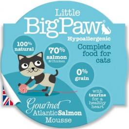 Little BigPaw Gourmet Atlantic Salmon Mousse for Cats 8 x 85g - Dogtor