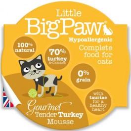 Little BigPaw Gourmet Tender Turkey Mousse for Cats 8 x 85g - Dogtor