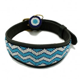 Malulu Kilifi Blue Lurcher Dog Collar - Mini - Dogtor